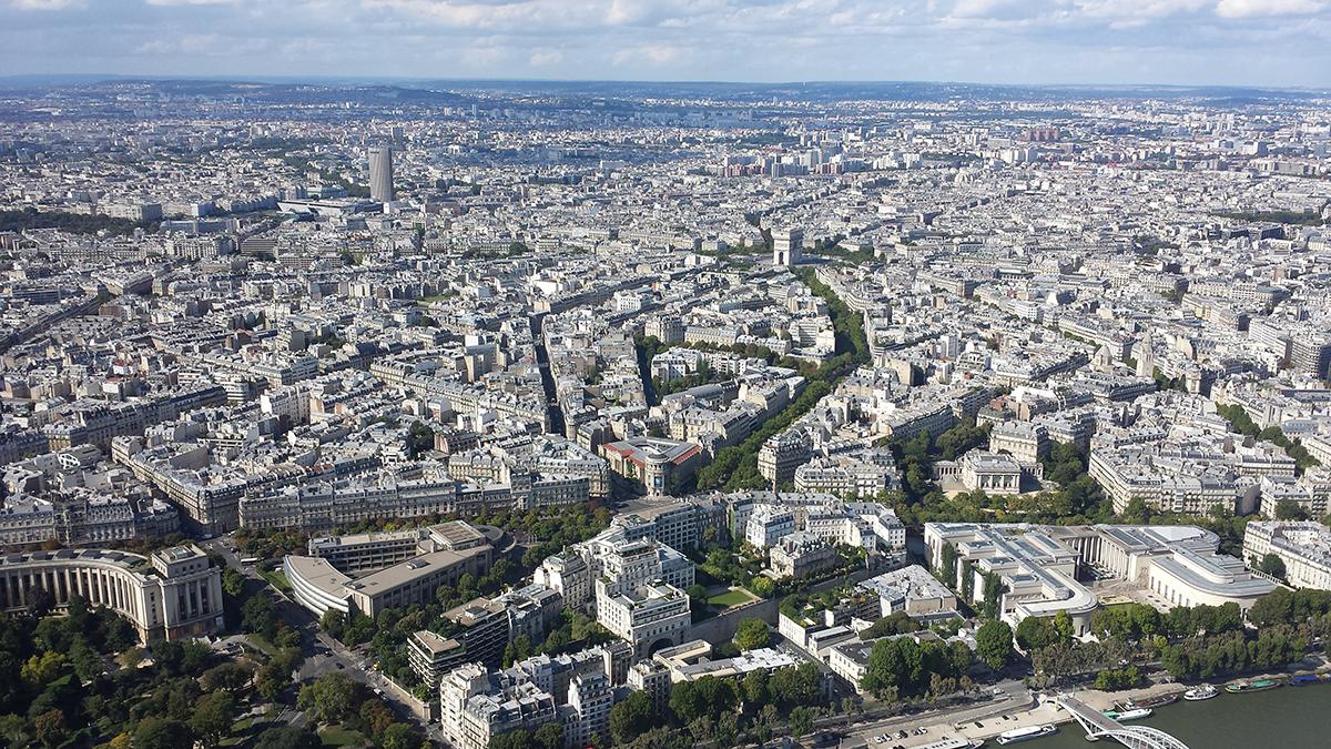 Torre Eiffel vista torre Montparnasse