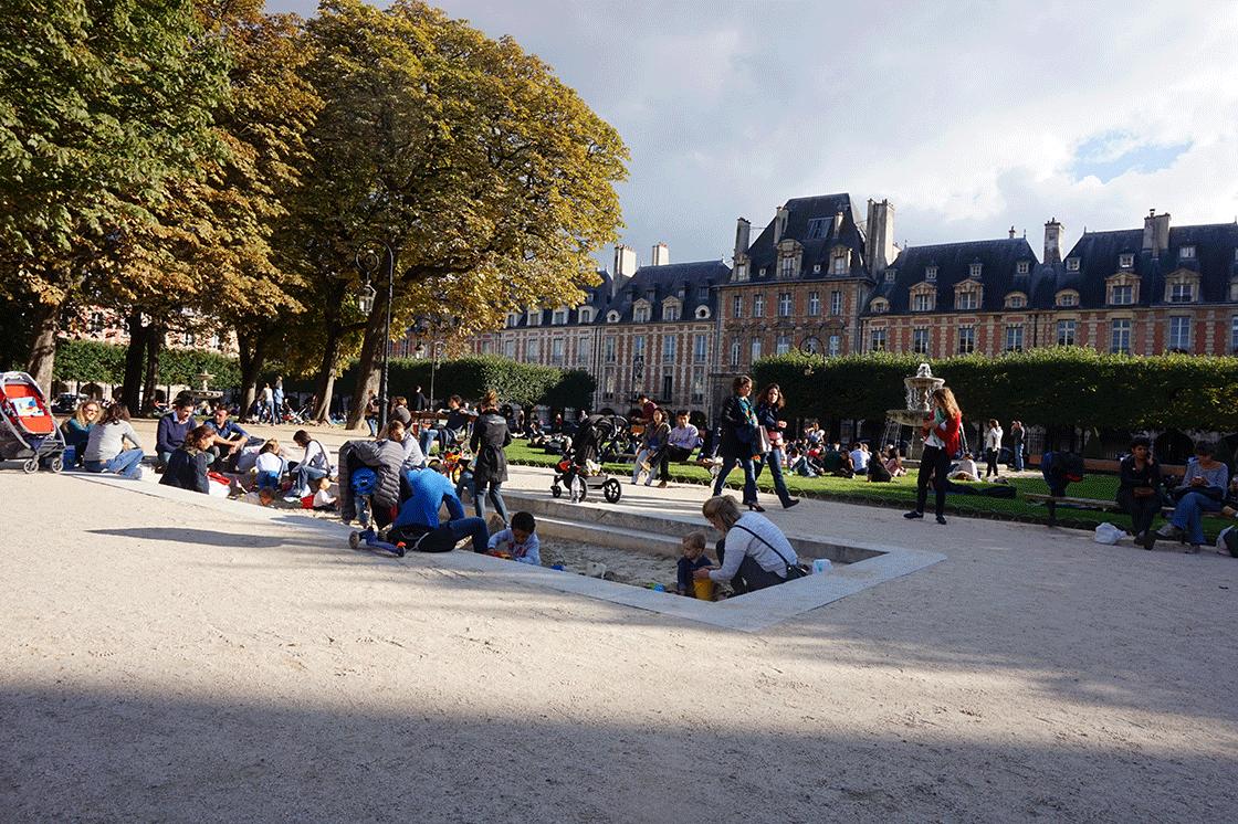 Place des Vosges no coração do Marais