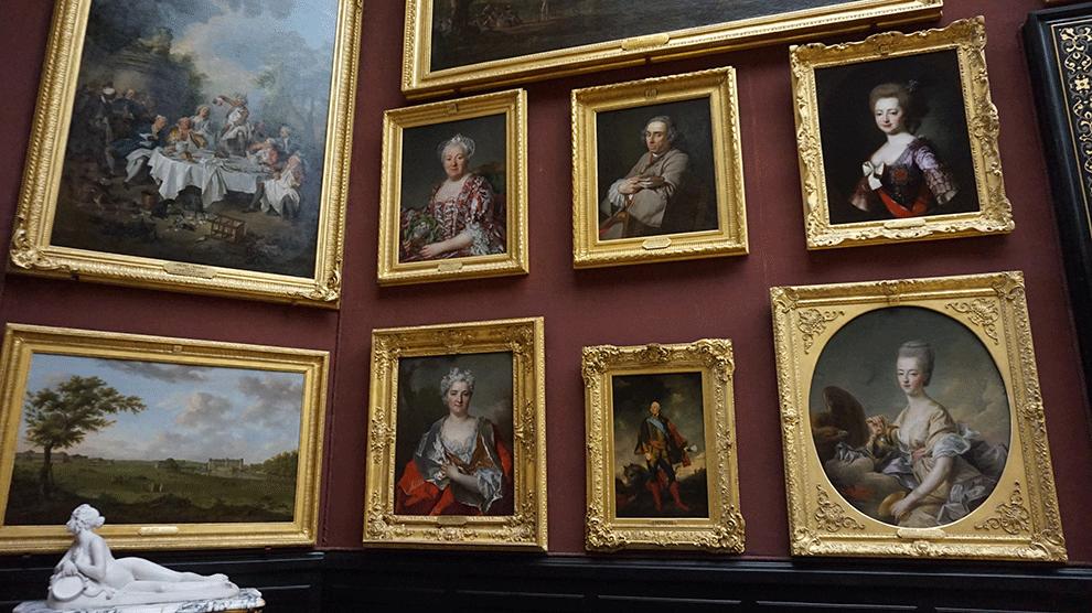 Coleção de pintura antiga no Castelo de Chantilly