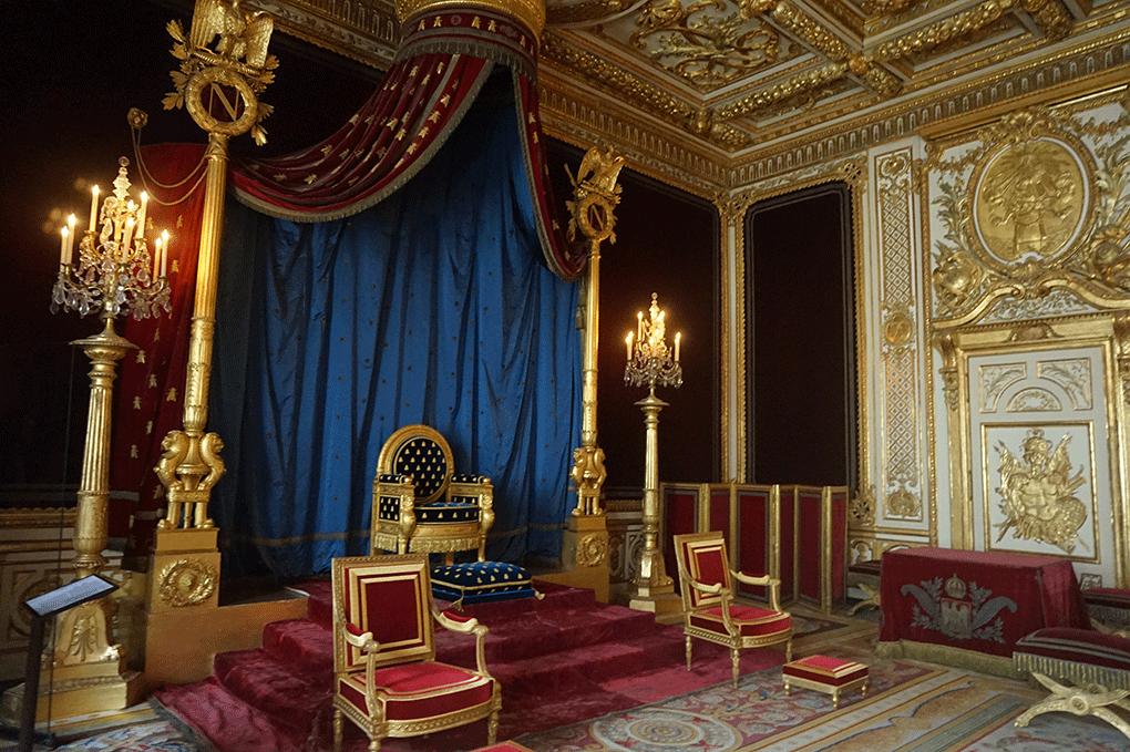 O Trono de Napoleão em Fontainebleau