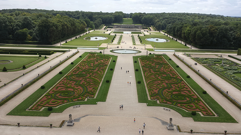 Os Jardins à francesa de André Le Nôtre no Castelo de Vaux-le-Vicomte