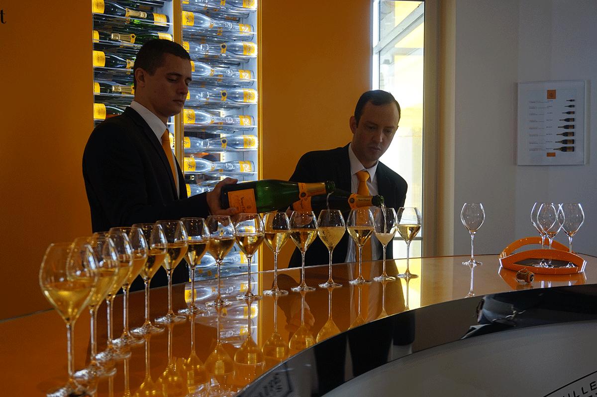 Degustação de Champanhe na Veuve Clicquot