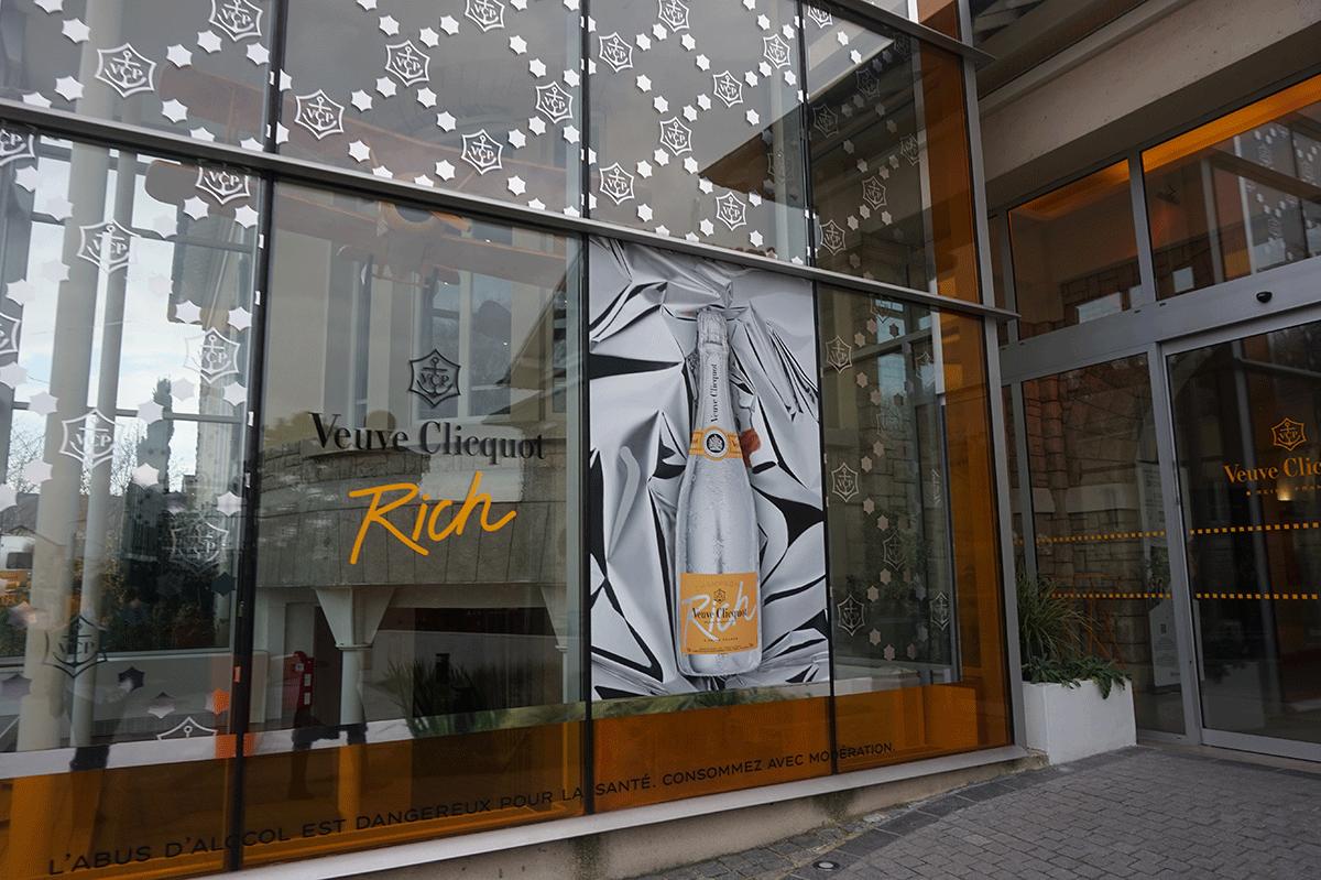 Entrada da sede da Maison Veuve Clicquot