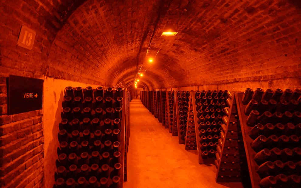 Visita de cave na Veuve Clicquot