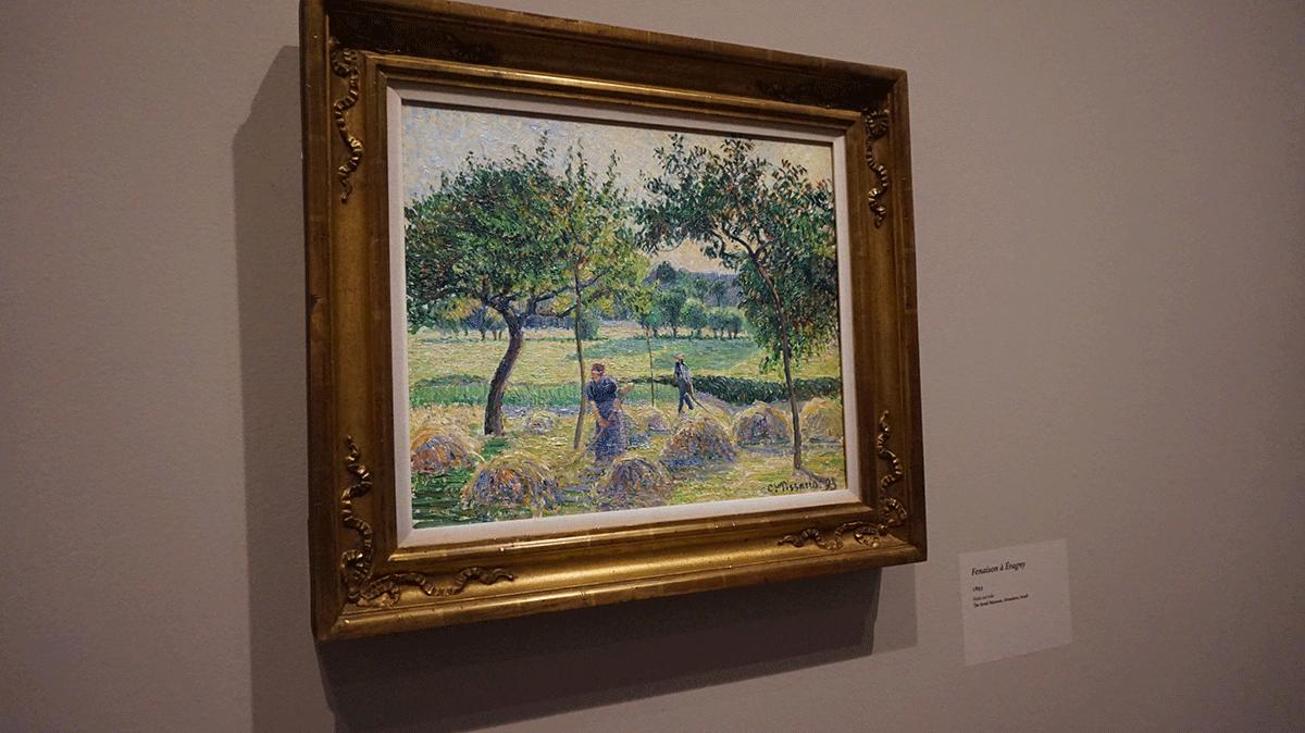 A pintura de Pissarro retrata a vida de trabalho no campo
