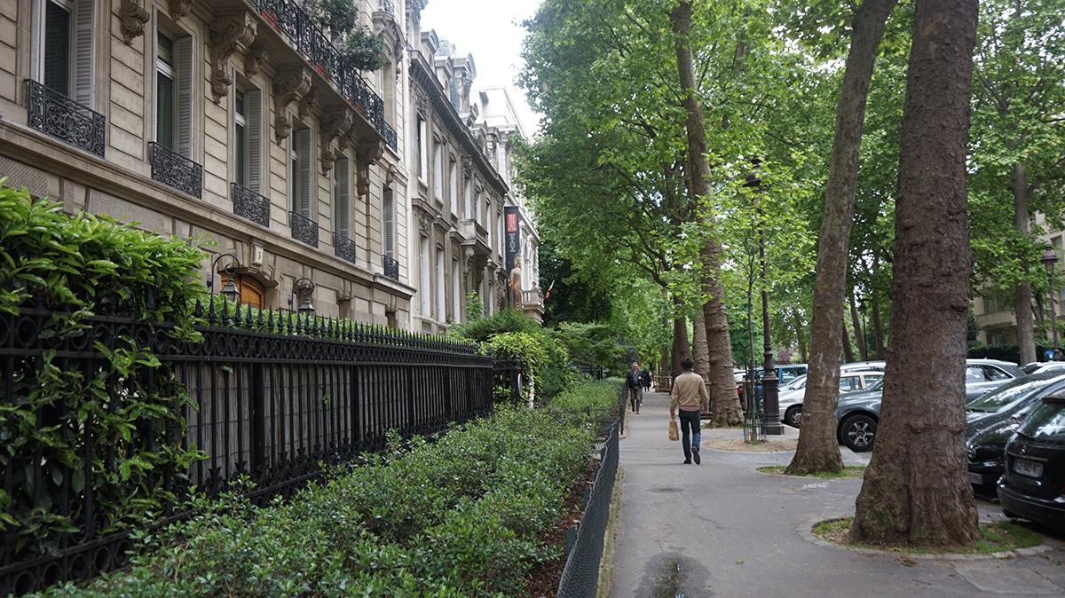 Paris é uma cidade arborizada com belas alamedas