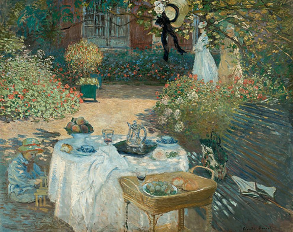Claude Monet na exposição Jardins no Grand Palais em Paris