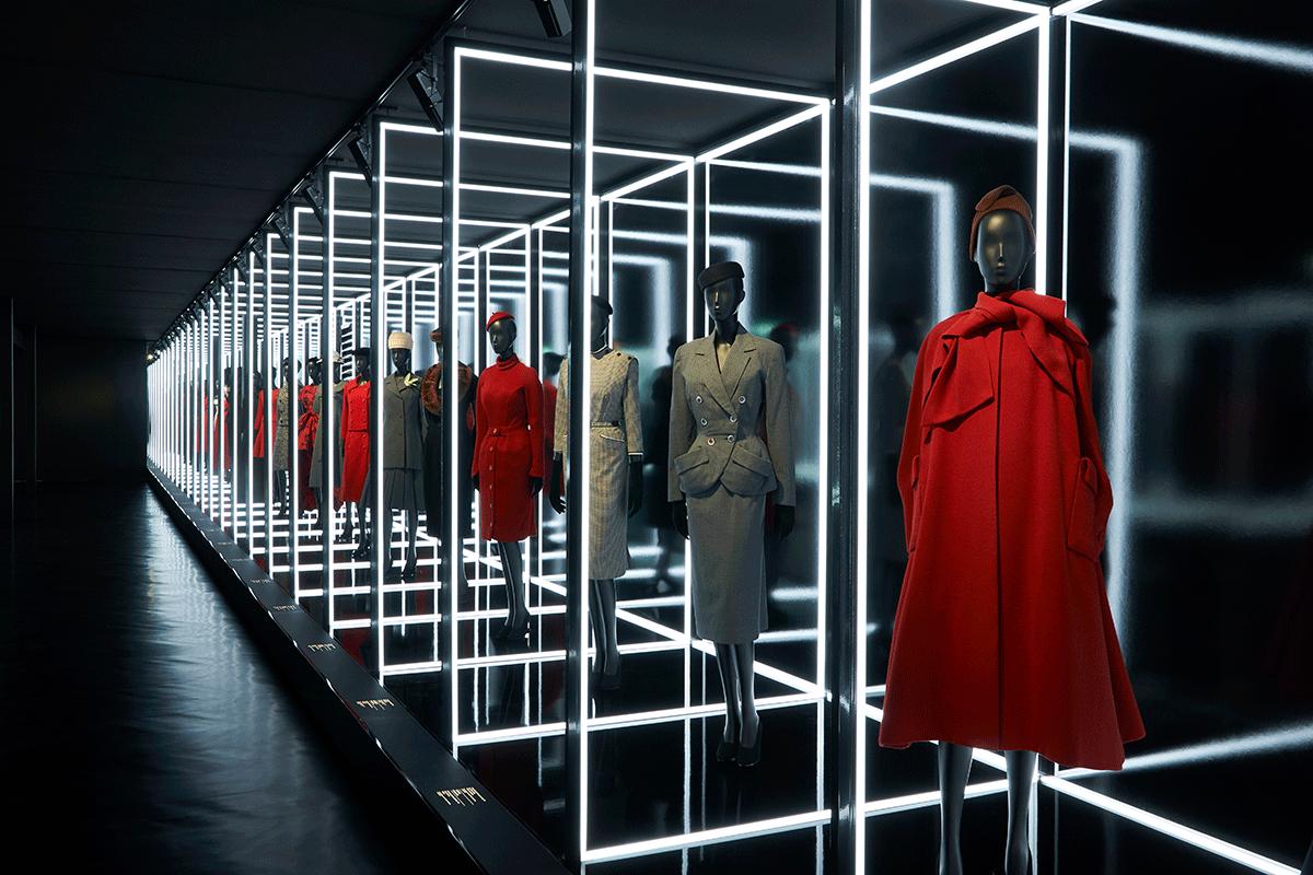 Cenografia da exposição Dior