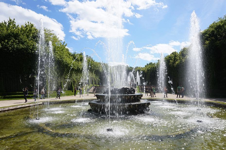 Jardins de Versalhes no verão