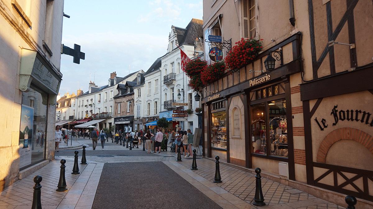 Cidade pitoresca da região do Vale do Loire