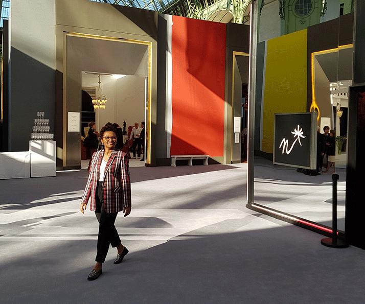Edis Lima no vernissage da Bienal Paris