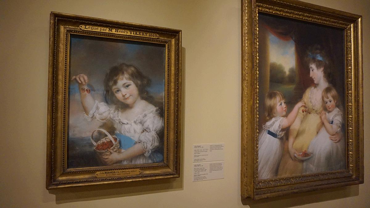 Exposição de pintura no museu do Louvre em Paris