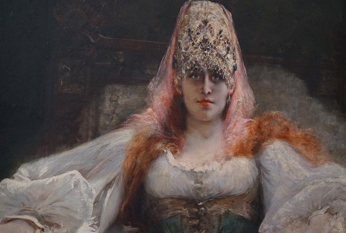 A artista francesa Sarah Berhardt