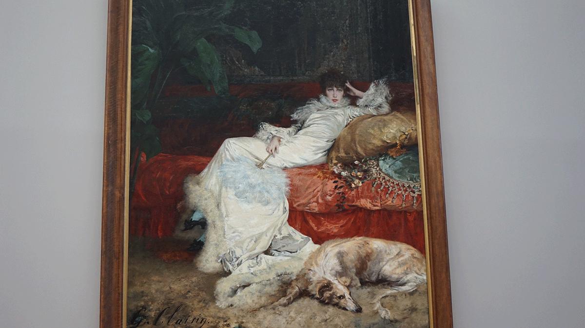 retrato de  Sarah Berhardt no Petit Palais Paris