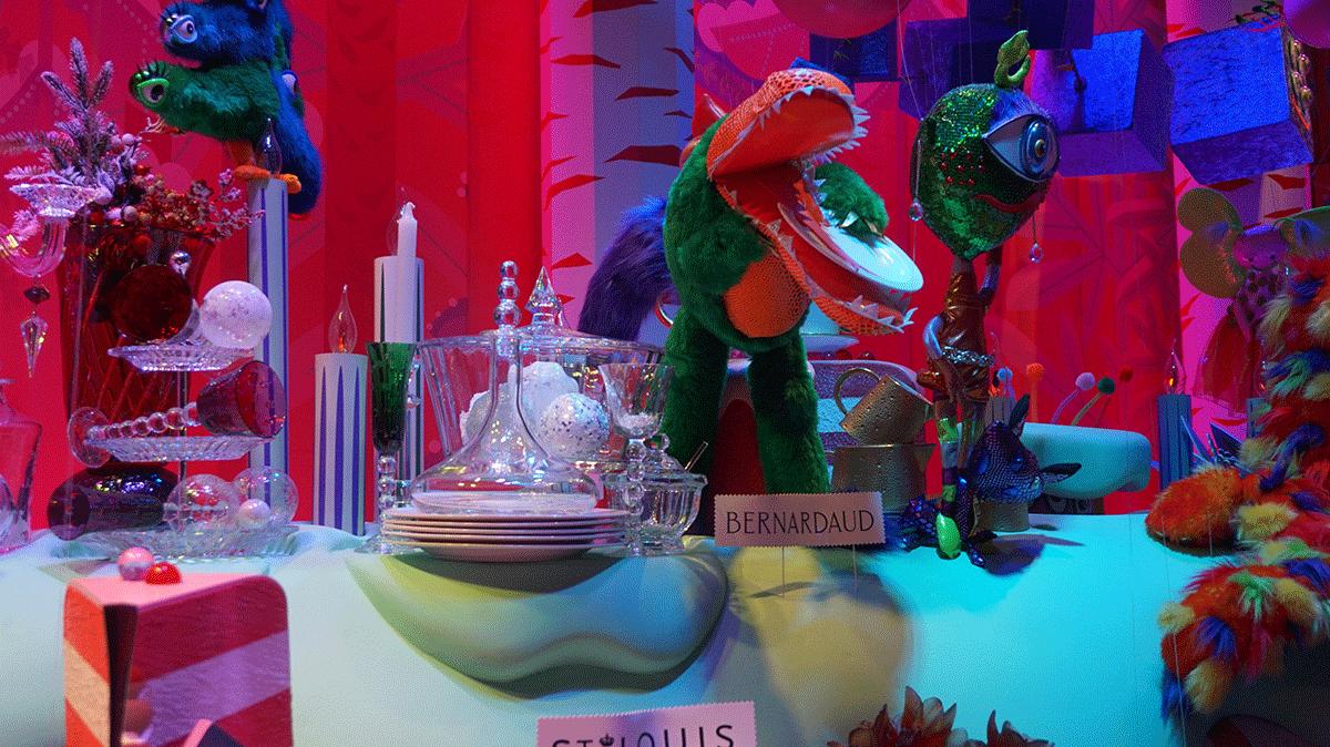 Grandes marcas de cristal na Galeria Lafayette