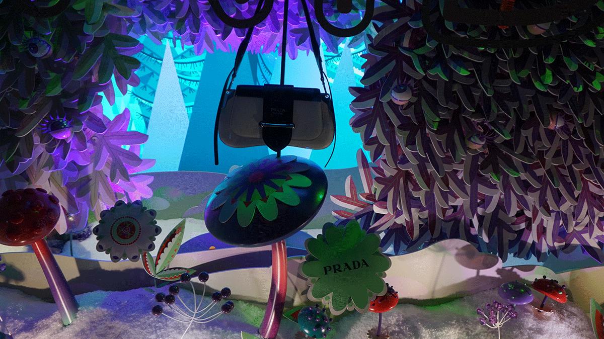 A Prada presente no Natal da Galeria Lafayette