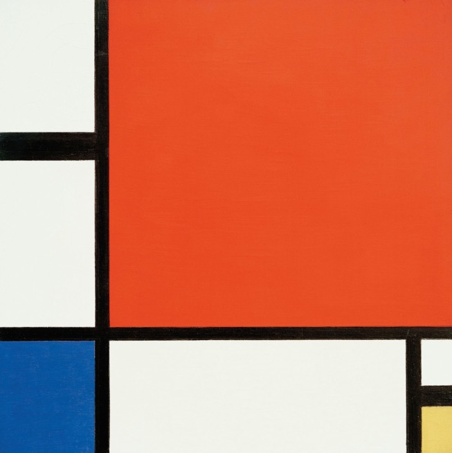 composição abstrada de Mondrian inspira Yves Saint Laurent