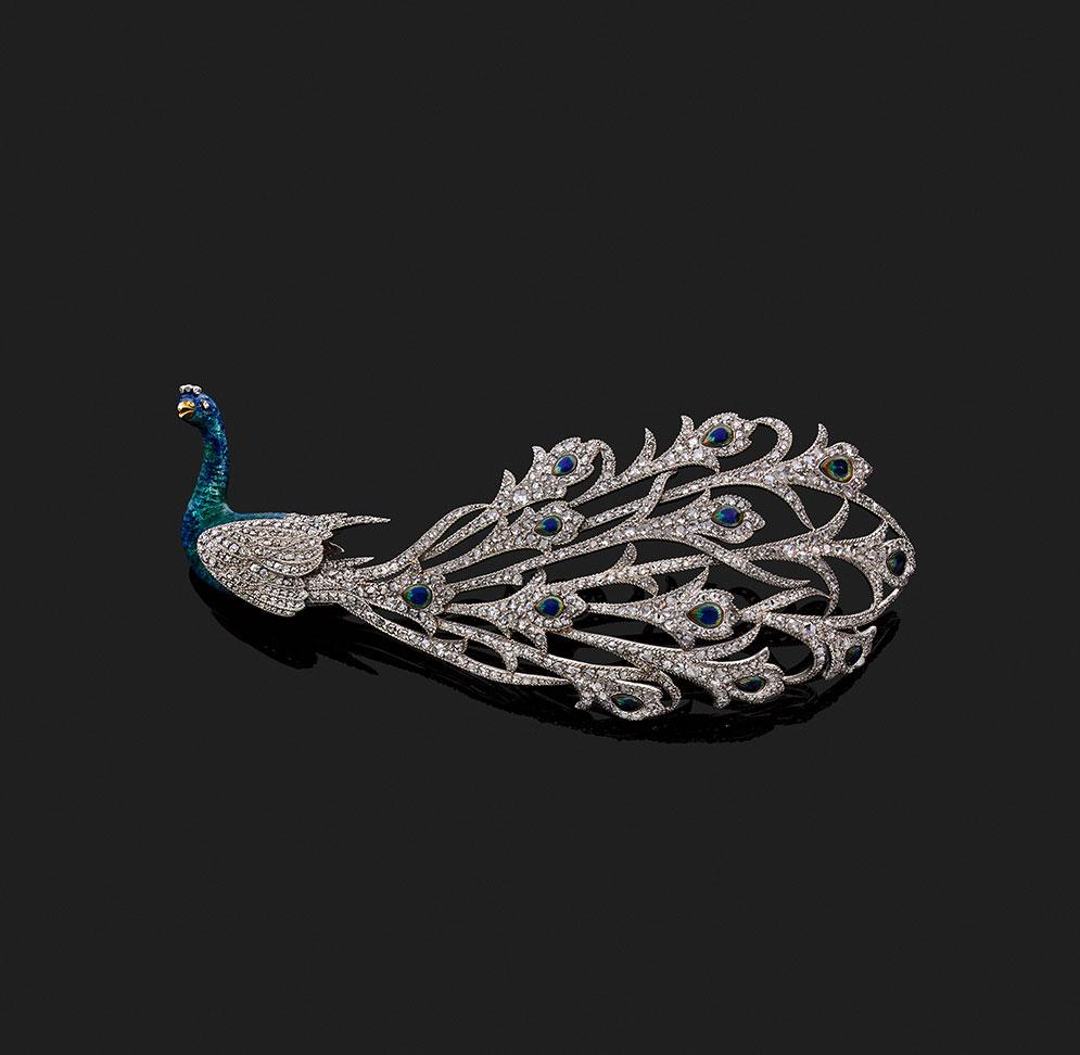 Broche pavão da joalheria Mellerio Paris