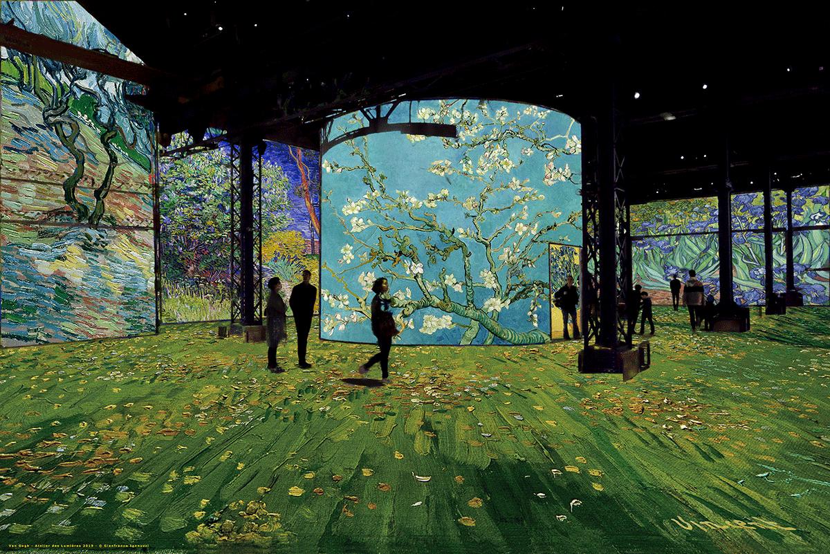 Cerejeiras do Japão na pbra de Van Gogh
