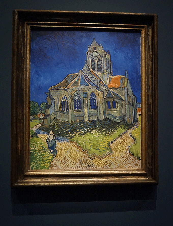 Igreja de Auvers-sur-Oise no museu d'Orsay