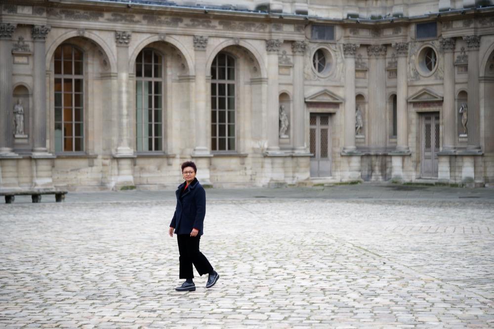 Edis Lima no Louvre