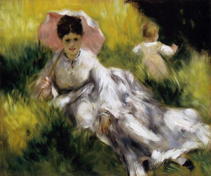 Mulher guarda-sol Renoir
