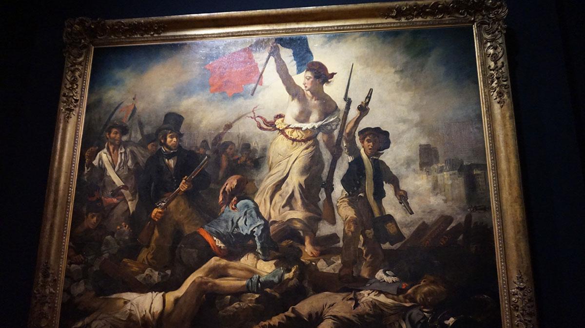 A liberdade guiando o povo Delacroix