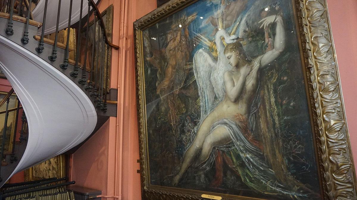Leda por Gustave Moreau
