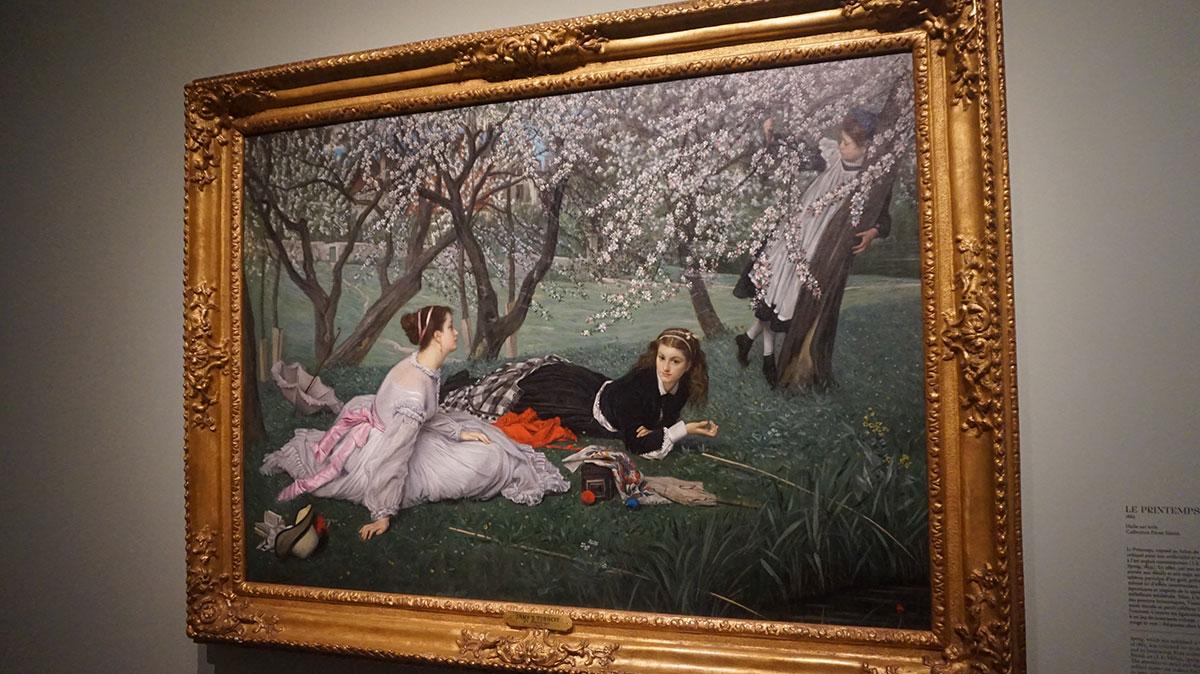 cena de primavera na pintura