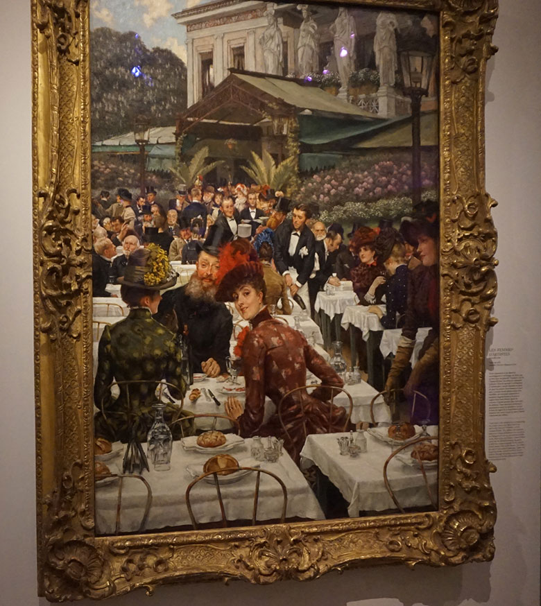 a moda na pintura de James Tissot