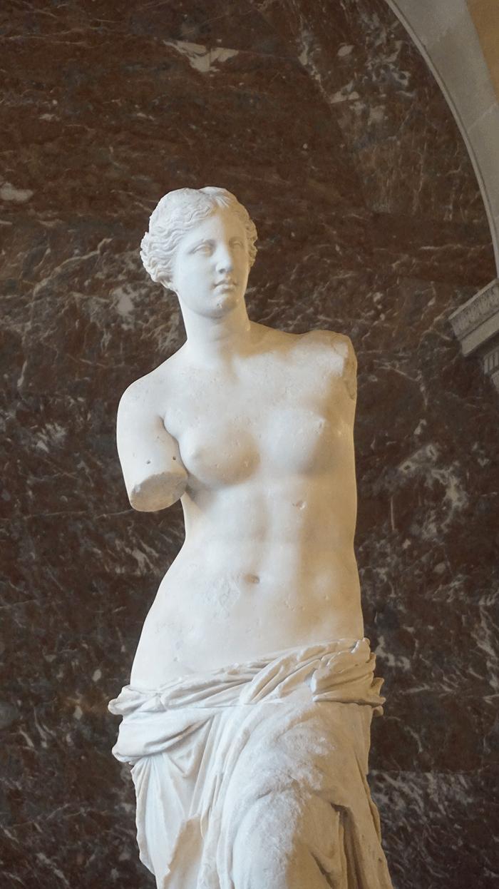 A Vênus de Milo estrela do Louvre