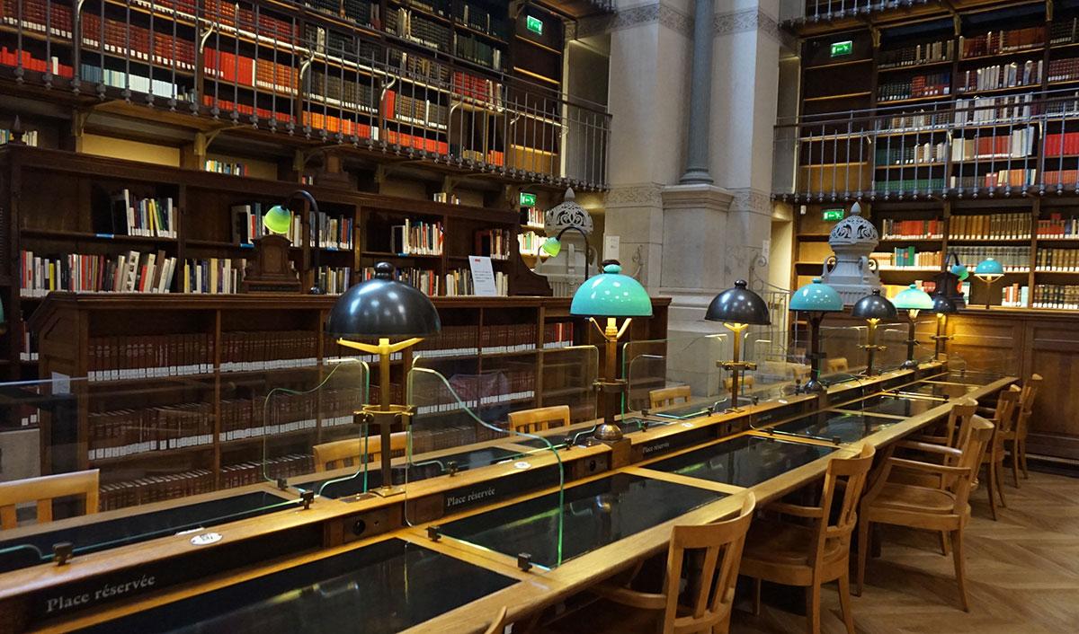 Biblioteca nacional perto do Louvre