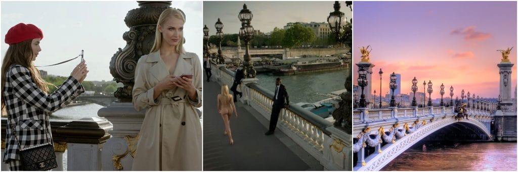 Emily in Paris na Ponte Alexandre III