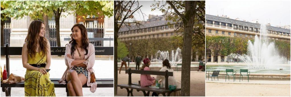 Emily in Paris no Palais Royal